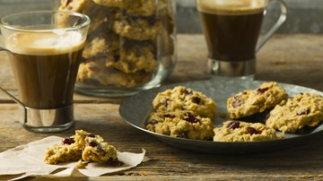 Fresh baked cookies and coffee
