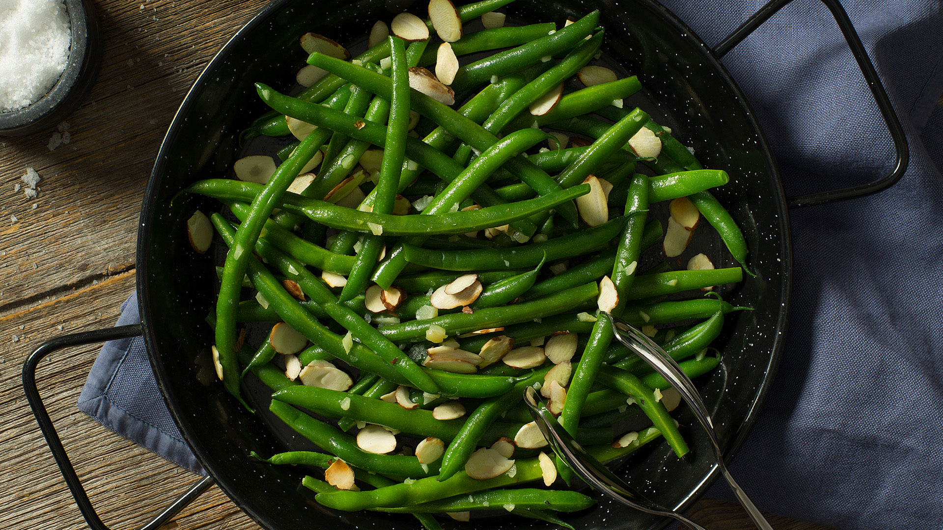 Header Cook Well Green Beans with Toasted Almonds