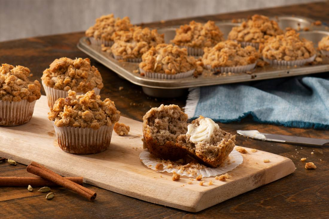 recipe image 'OAT'ver the Top Spiced Chai Muffins
