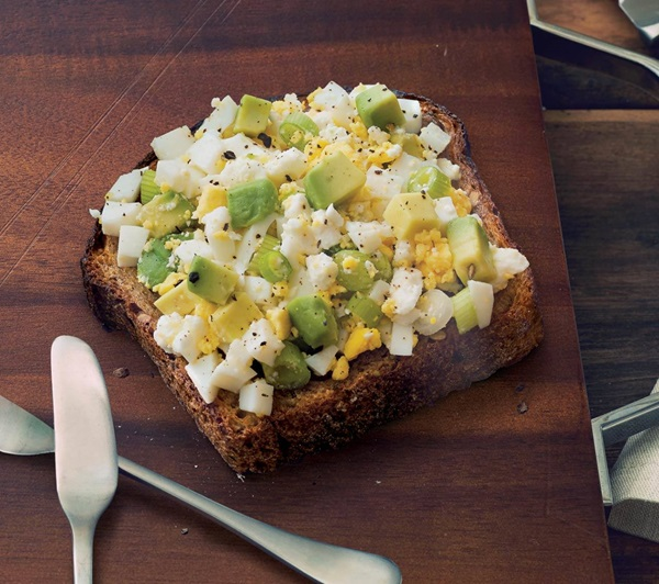 recipe image Avocado Toast with Egg and Feta Cheese