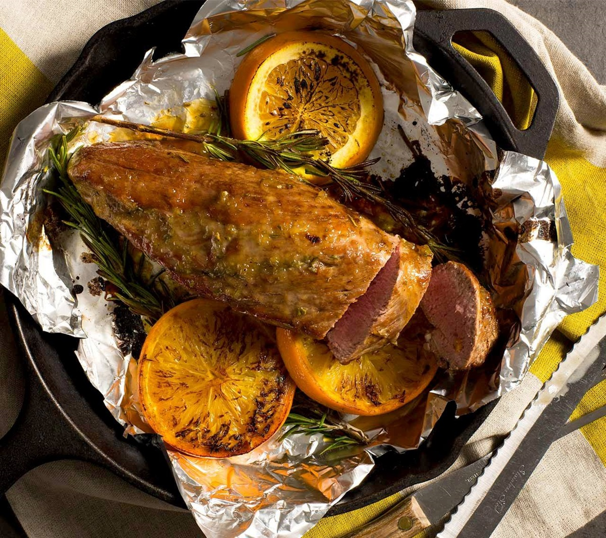 recipe image Pork Tenderloin with Orange Rosemary Glaze