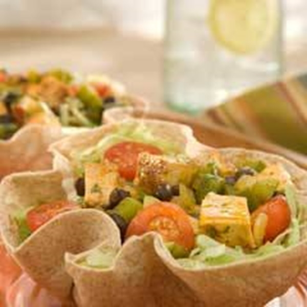 recipe image Blackened Chicken & Vegetable Tortilla Bowls