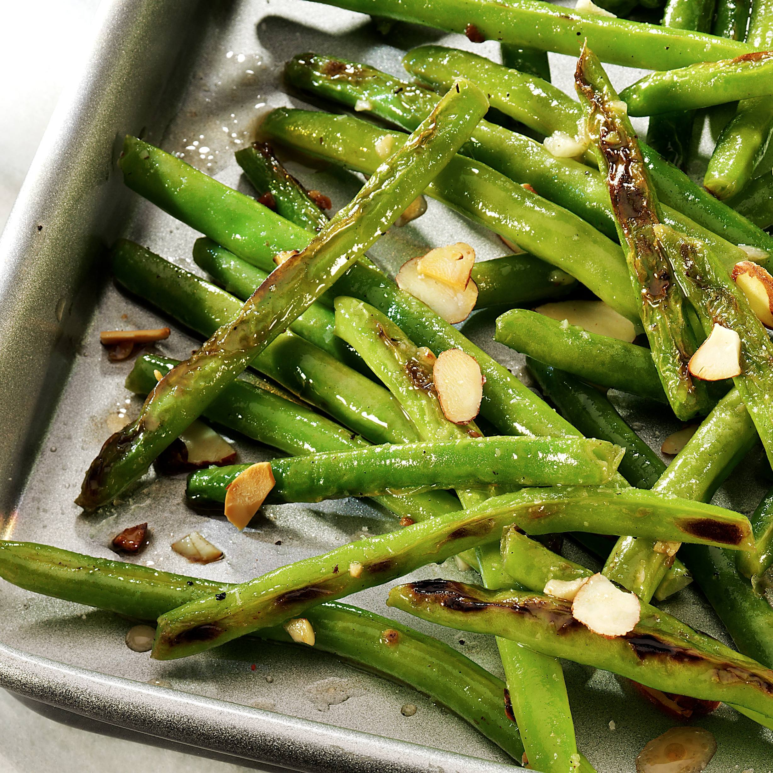 recipe image Roasted Lemony Green Beans with Almonds