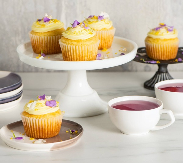 recipe image Lemon Cupcakes With Elderflower Frosting