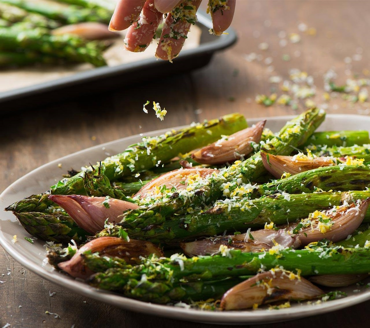 recipe image Roasted Asparagus with Parmesan Cheese
