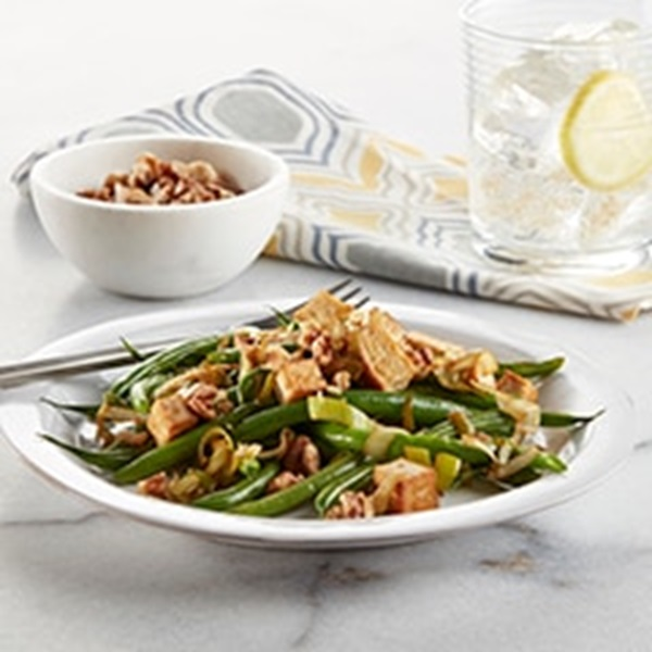 recipe image Vegan Garlic Soy Green Beans with Tofu