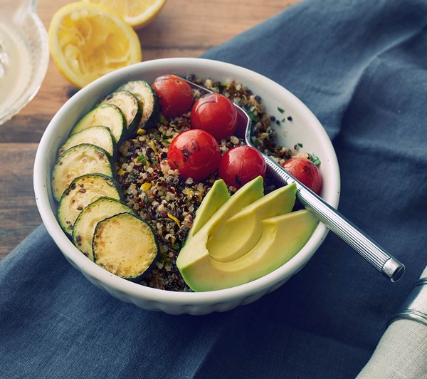recipe image Quinoa Bowls with Roasted Vegetables