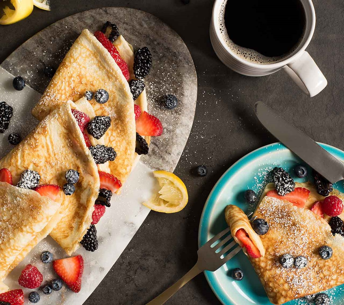 recipe image Fresh Fruit Crepes