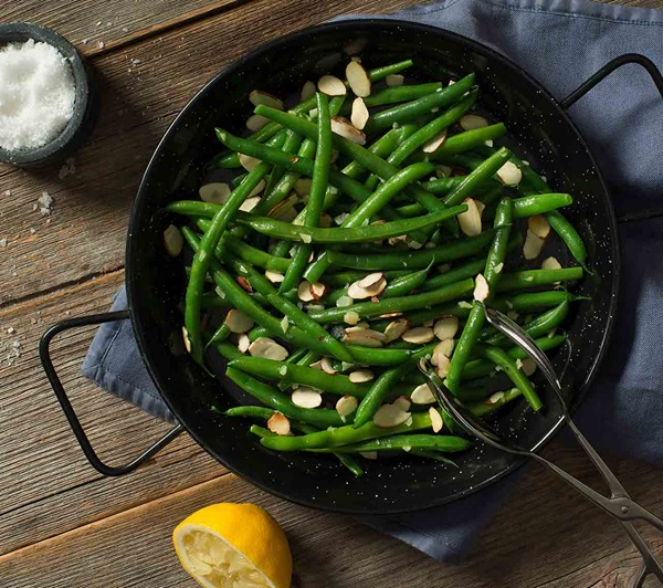 recipe image Green Beans with Toasted Almonds