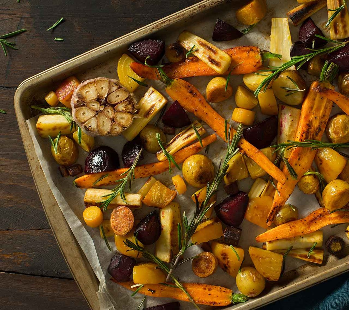 recipe image Roasted Root Vegetables with Garlic & Rosemary