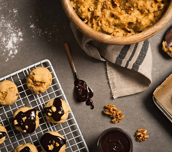 recipe image Skinny Ganache Walnut Cookies