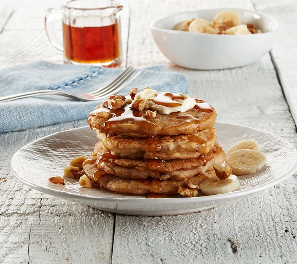 recipe image Vegan Walnut and Oat Pancakes