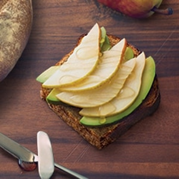 recipe image Avocado Toast with Pear and Honey