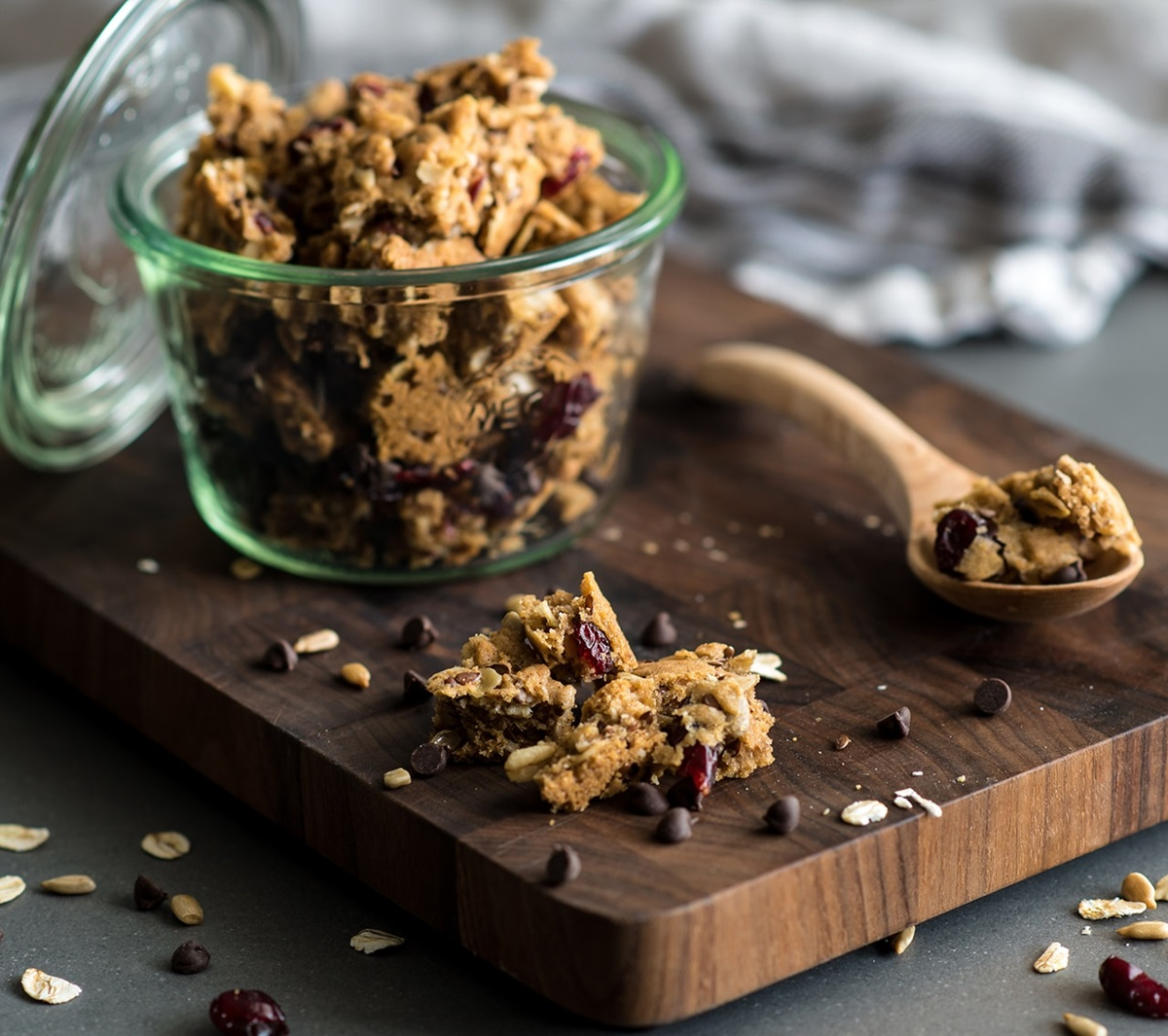 recipe image Cranberry Chocolate Oatmeal Granola