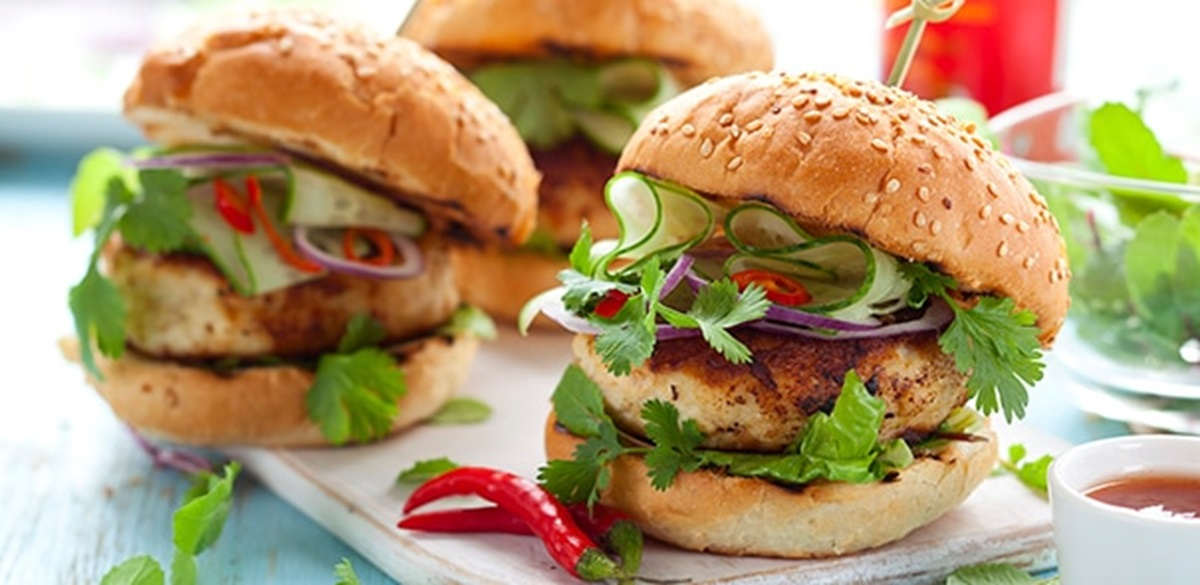 recipe image Grilled Thai Turkey Burgers