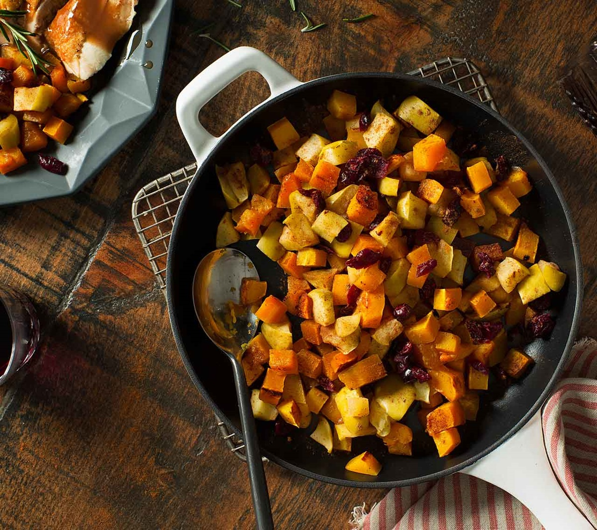 recipe image Butternut Squash with Apples & Cranberries