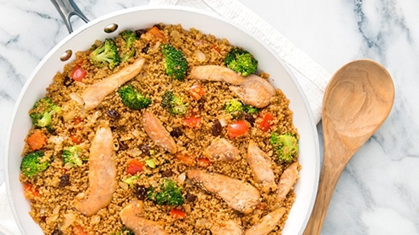 recipe image Couscous with Curried Chicken and Vegetables