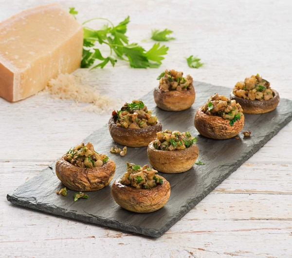 recipe image Stuffed Mushrooms with Pear & Parmesan