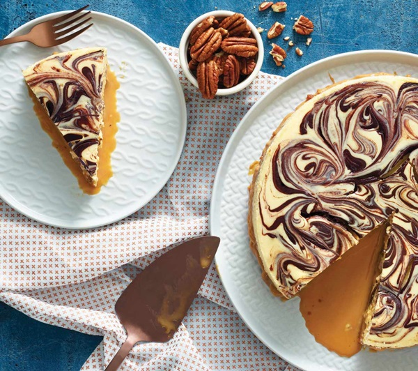 recipe image Chocolate Turtle Cheesecake